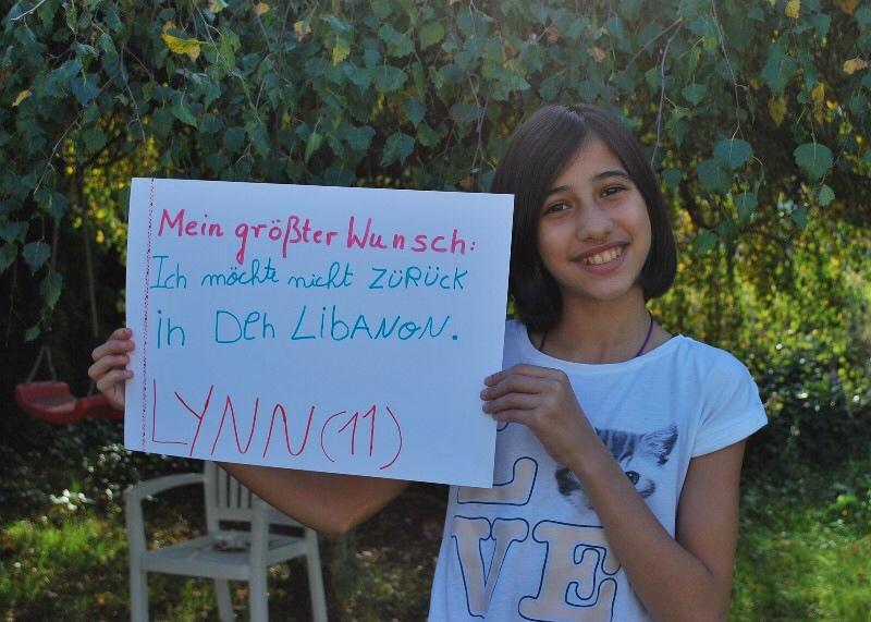 Lynn (11) möchte nicht zurück in den Libanon.