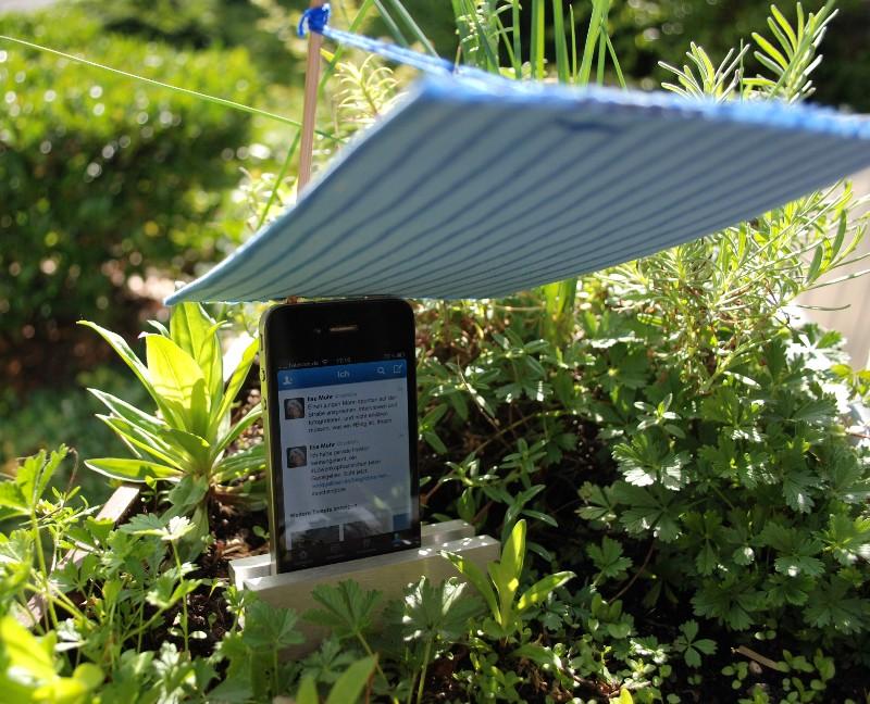 Sonnenschirm fürs iPhone