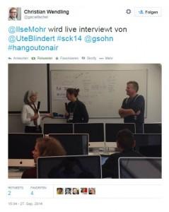 2014_09_27 Livestreaming Tweet