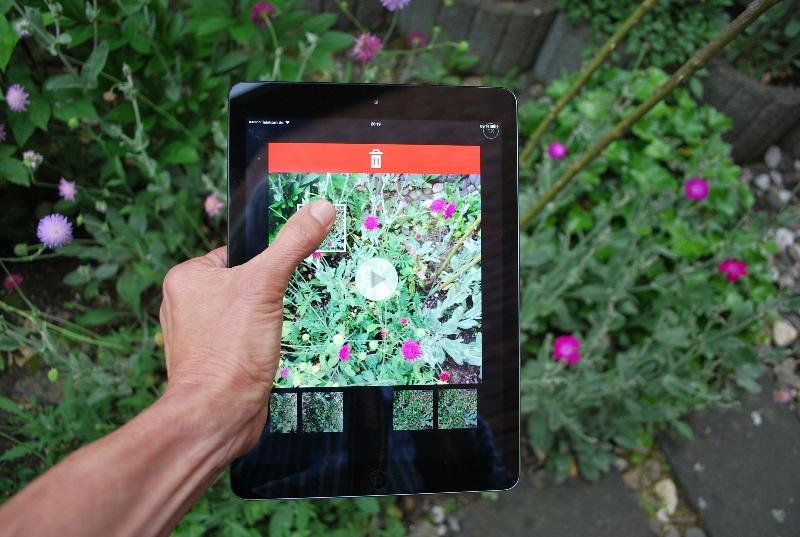 Bildsequenzen lassen sich aus einem Vine auf dem iPad bequem löschen