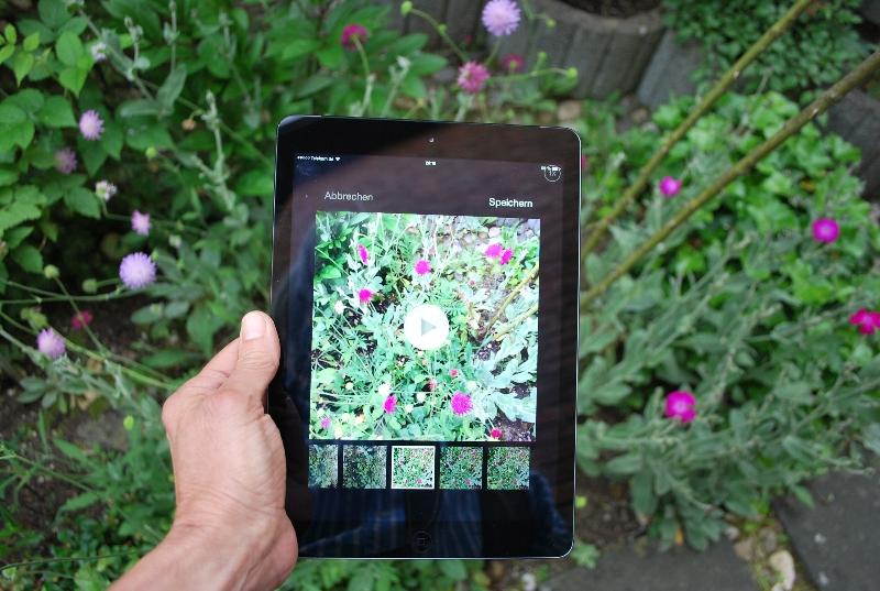 In der vergrößerten Ansicht lassen sich die Einzelsequenzen auf dem iPad bequem bearbeiten.