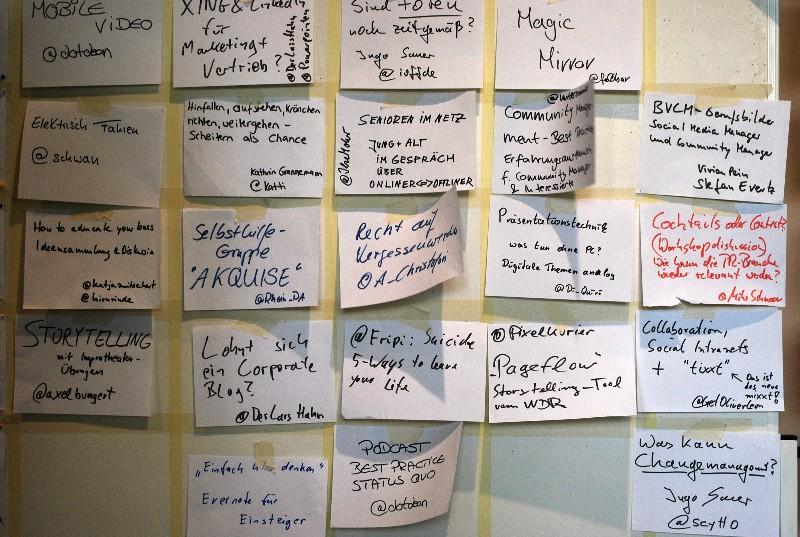 Themenvielfalt beim Barcamp Köln
