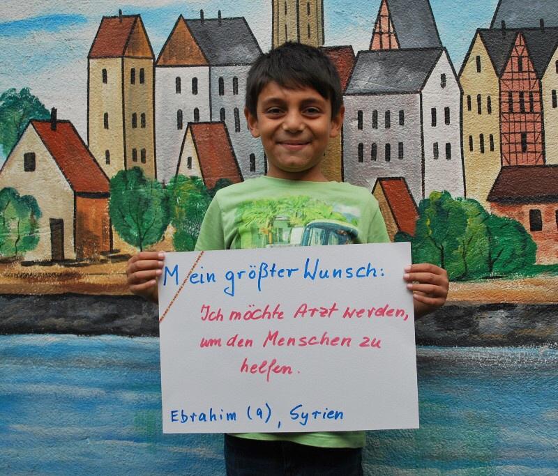 Ebrahim (9) aus Syrien möchte später einmal Arzt werden.