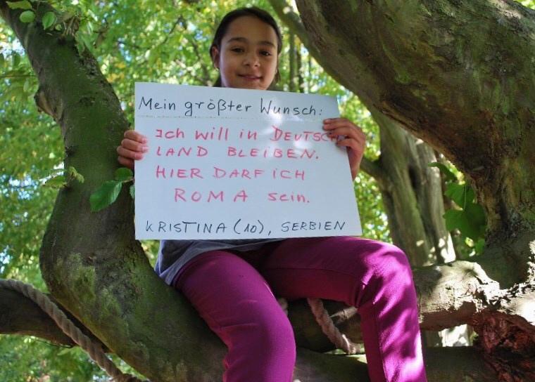 Kristina (10) aus Serbien möchte in Deutschland bleiben, weil sie sich hier als Roma willkommen fühlt.
