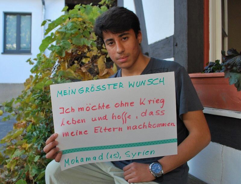 Mohamad (15) aus Syrien möchte, dass seine Eltern nachkommen.